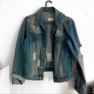 Denim Jacket Distressed